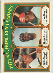 1972 Topps Baseball Cards      089      Wille Stargell/Hank Aaron/Lee May LL